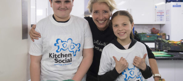 Actress Dame Emma Thompson visits Kitchen Social Hub